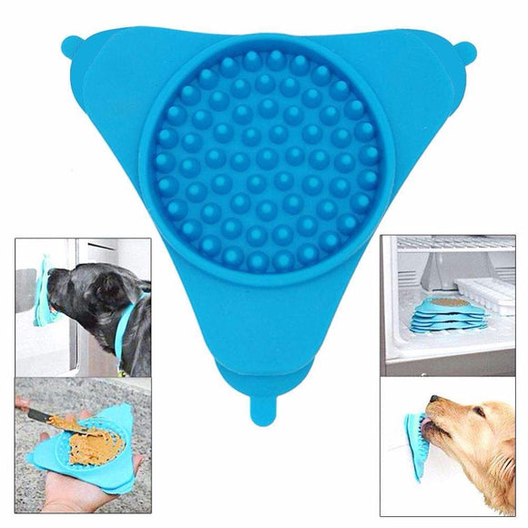 Wall Mount Dog Lick Feeder Slow Treat Dispensing Bowl