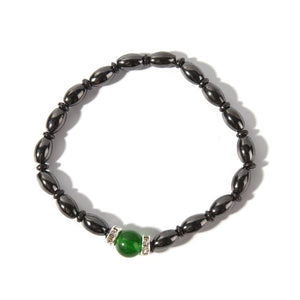 Adjustable Weight Loss Round Black Stone Magnetic Therapy Bracelet