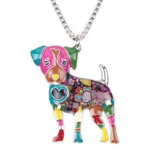 Jack Russel Dog Pendant Necklace