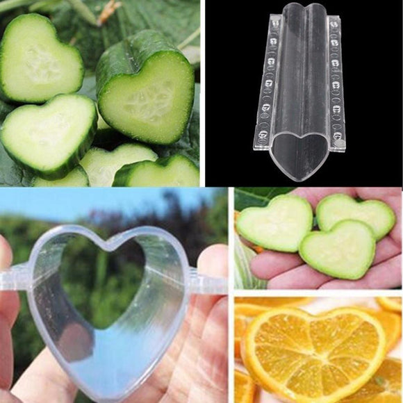 Clear Heart-shaped Cucumber Growth Forming Mold