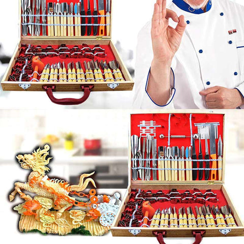 80 Piece Fruit Carving Tool Set