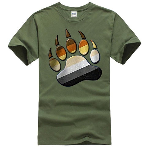 Image of Men's Multi Color Paw Shirt
