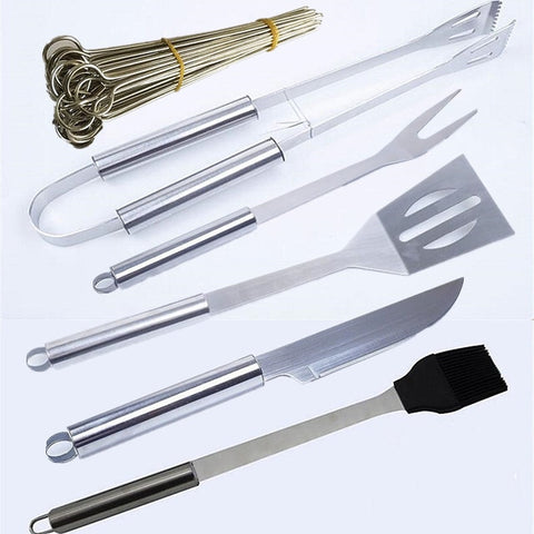 Image of 20PC Stainless Steel BBQ Utensil Grill Set