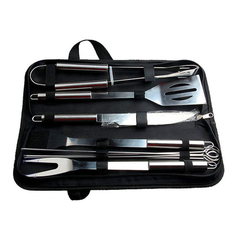 20PC Stainless Steel BBQ Utensil Grill Set