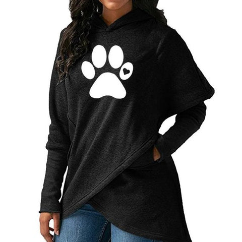 Image of Dog Paw Walking Hoodie