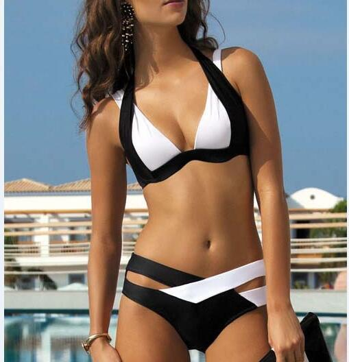 PATCHWORK BIKINI SWIMSUIT