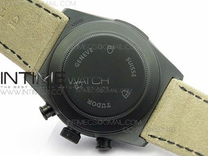 BLACK SHIELD REAL CERAMIC ZF 1:1 BEST EDITION ON BROWN LEATHER STRAP A7753