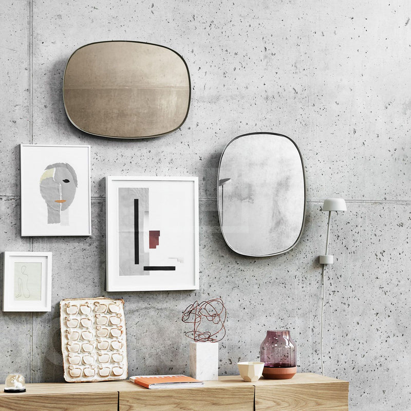 Framed Mirror Small - Taupe/Taupe