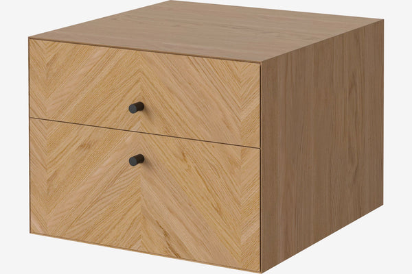 Luxe Drawer - 2 Drawers - Wall Mounted