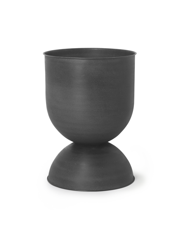 Hourglass Pot - Medium - Black/Dark Grey