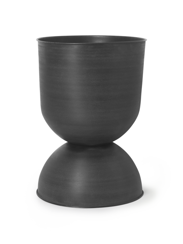 Hourglass Pot - Large - Black/Dark Grey