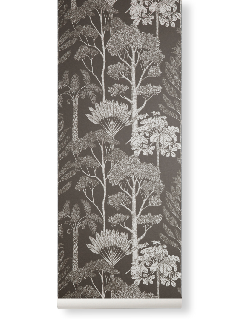 Katie Scott Wallpaper - Trees - Brown Grey