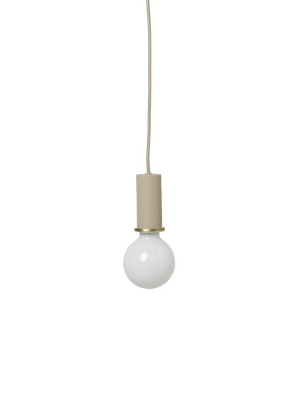 Socket Pendant Low - Cashmere