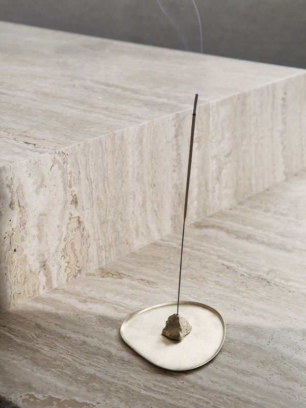 Stone Incense Burner - Brass