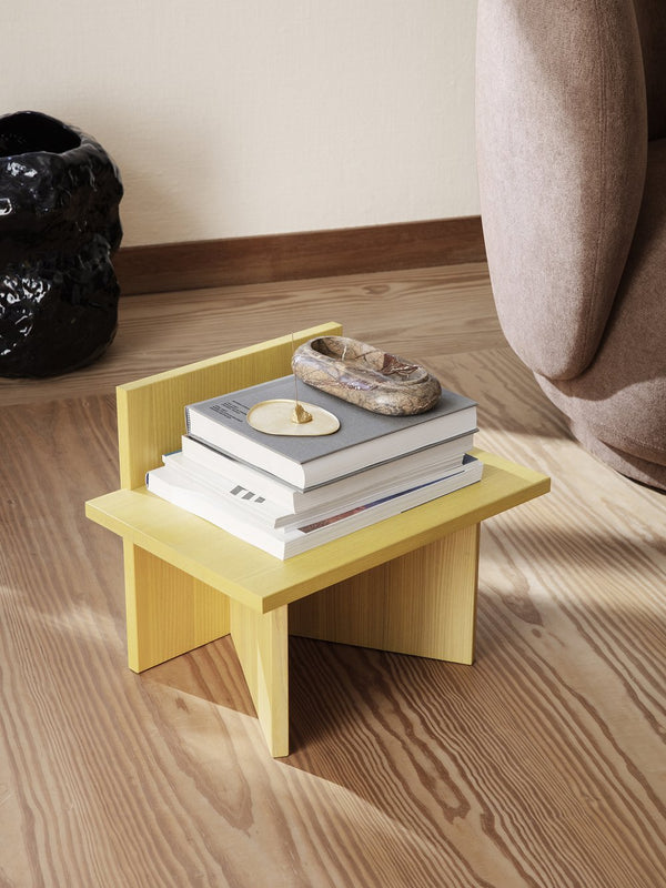 Oblique Stool - Yellow Stained Ash