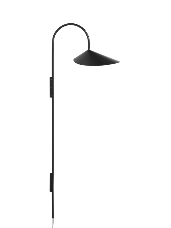 Arum Tall Wall Lamp - Black