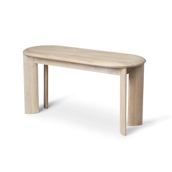Bevel Bench - White Oiled Oak