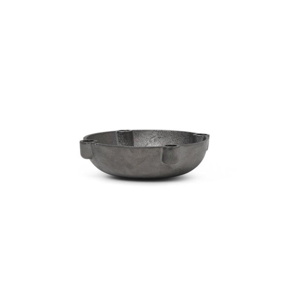 Bowl Candle Holder - Casted Black Brass