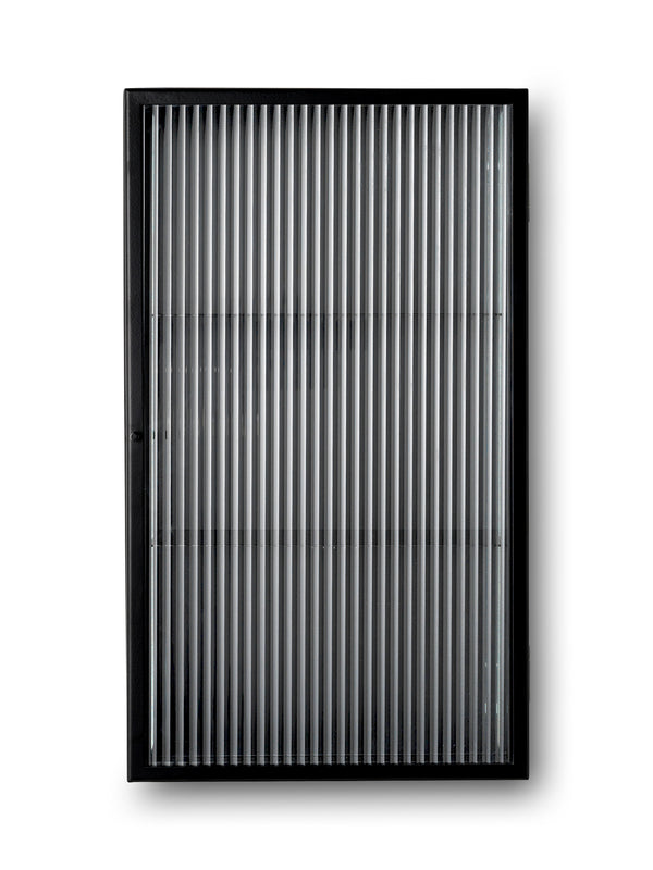 Haze Wall Cabinet - Reeded Glas - Black
