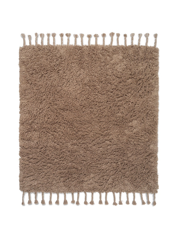 Amass Long Pile Rug - White Pepper