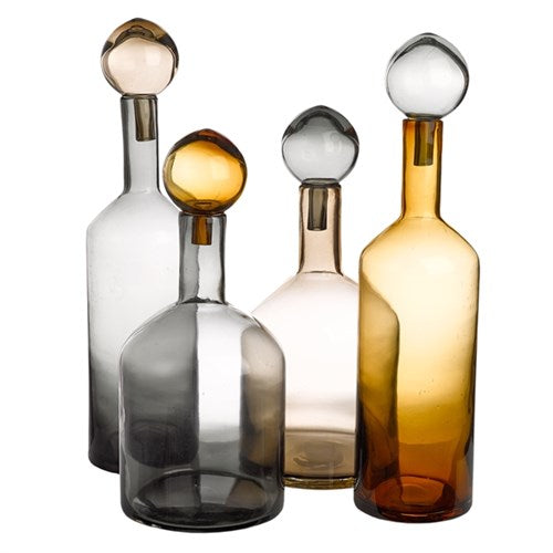 Bubbles & Bottles Tall - Smoked Grey