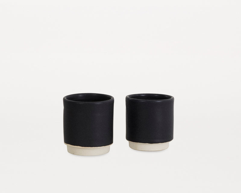 Otto Cup Black - Set of two