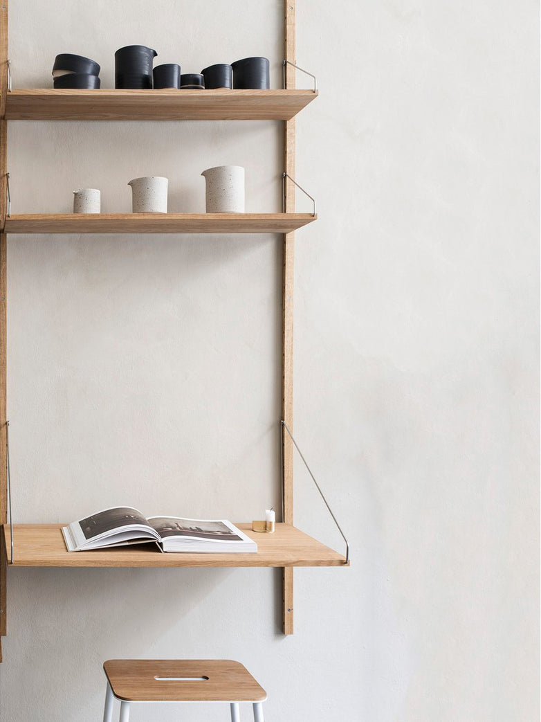 Shelf Library H1148 | Desk Section