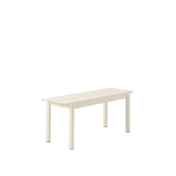 "LINEAR STEEL BENCH / 110CM / 43.3"" - White"