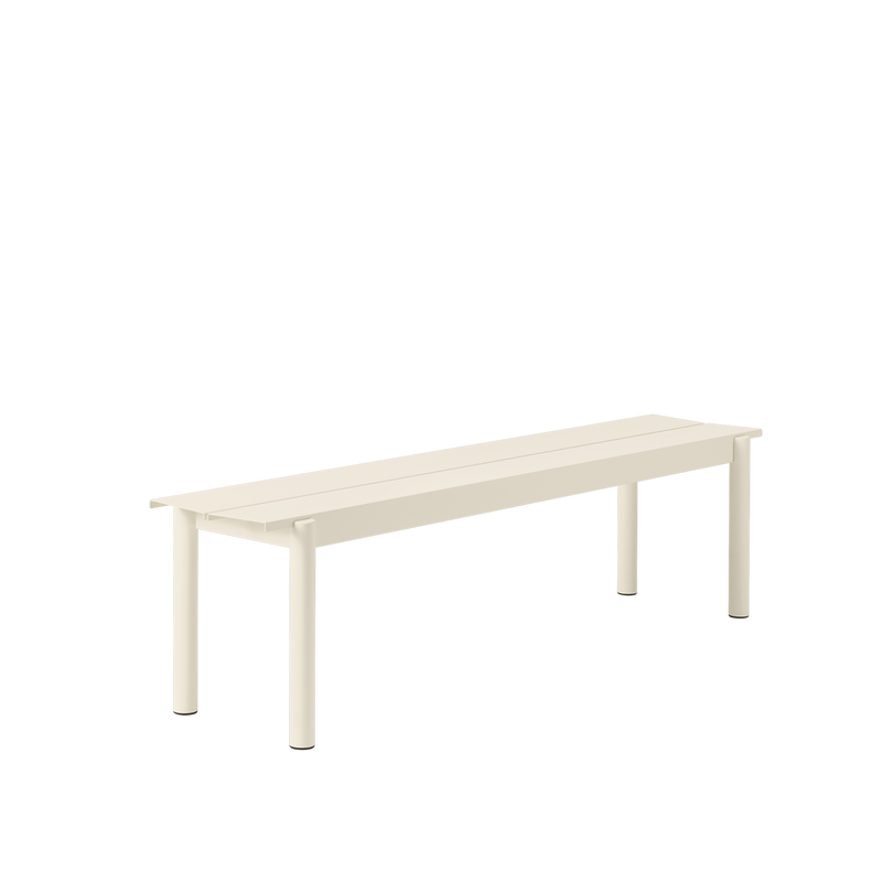"LINEAR STEEL BENCH / 170CM / 66.9"" - White"