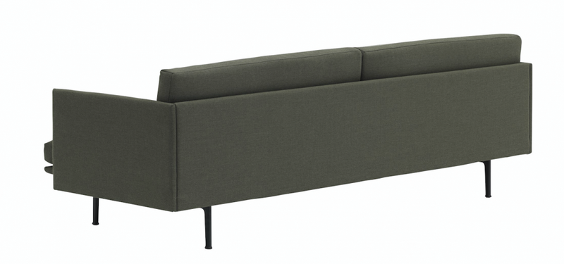 Outline Sofa 3 Seater Dark Green Slow