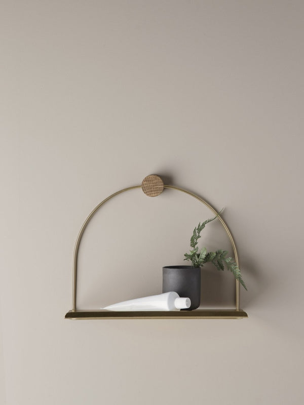 Bathroom Shelf - Brass