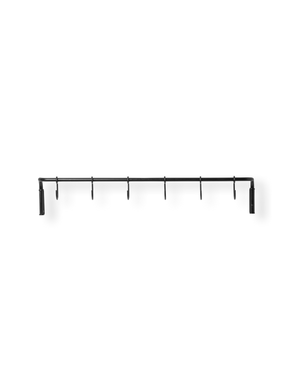 Kitchen Rod incl. 6 hooks - Black