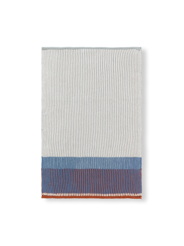 Akin Knitted Hand Towel - Dull Blue