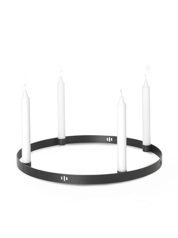 Candle Holder Circle - Black Brass-Large