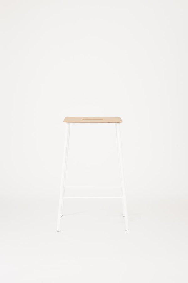 Adam Stool | Oak / White H65
