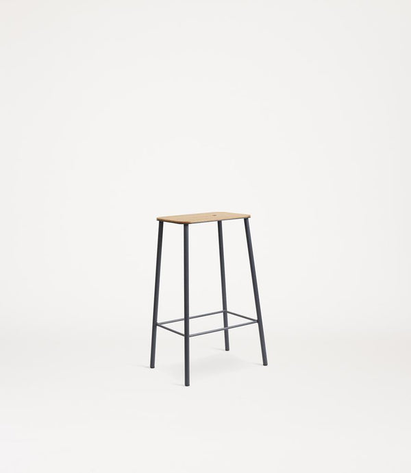 Adam Stool | Oak / Grey steel H65