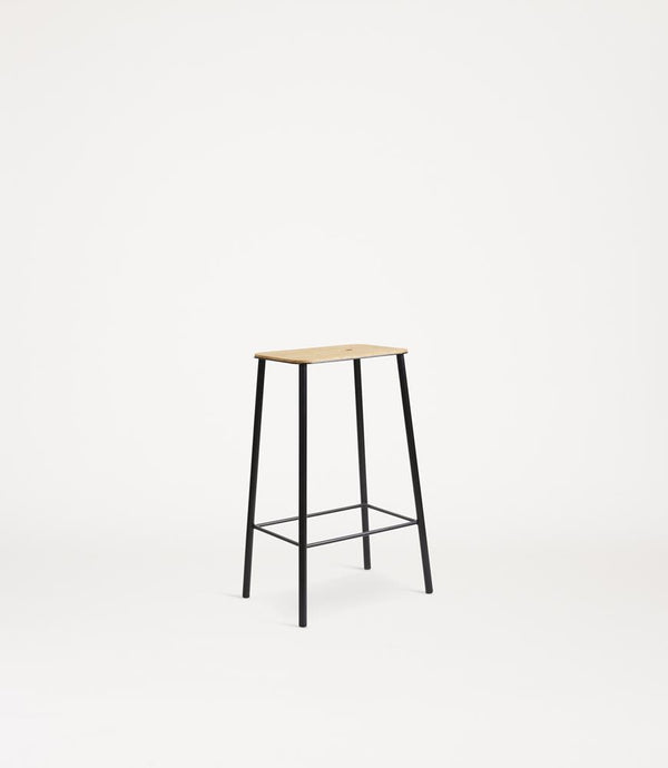 Adam Stool | Oak / Black H65