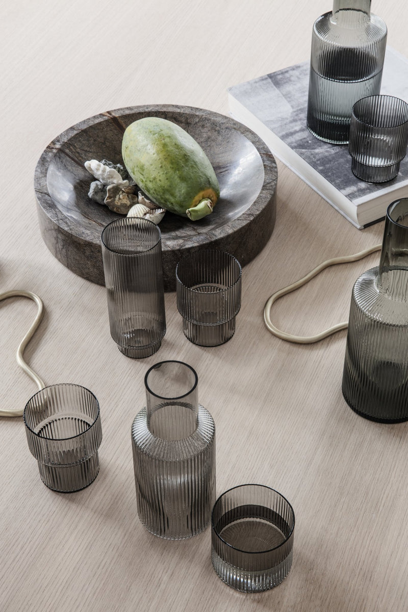 Ripple Glass - Set of 4 - Smoked Grey