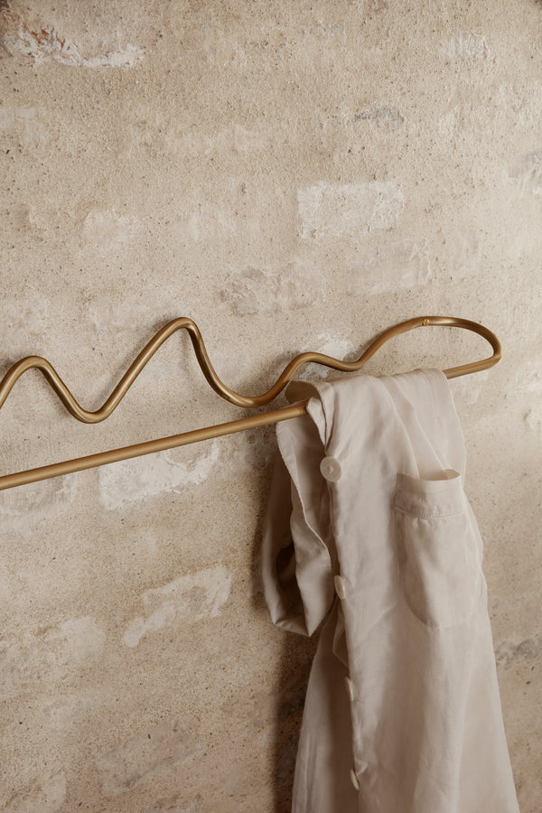 Curvature Towel Hanger - Brass