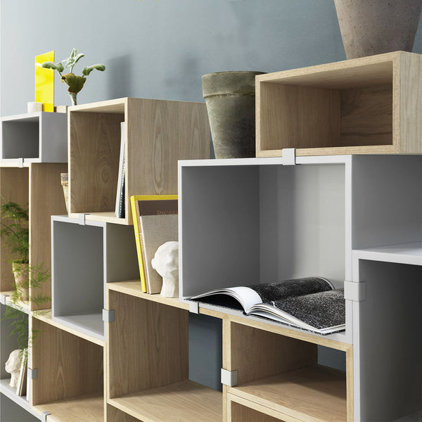 Stacked Storage System - Clips - Light Grey
