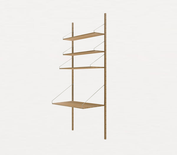 Shelf Library H1852 | Desk Section