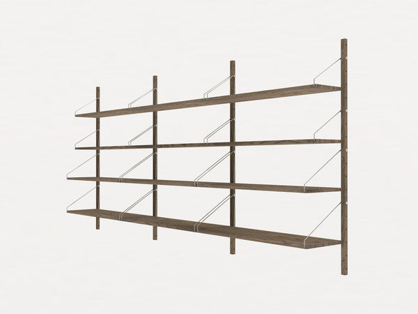 Shelf Library Dark H1148 | Triple Section