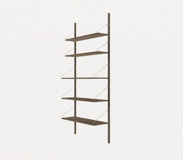 Shelf Library Dark H1852 | Single Section