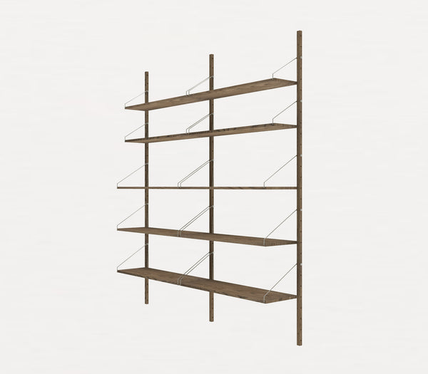 Shelf Library Dark H1852 | Double Section