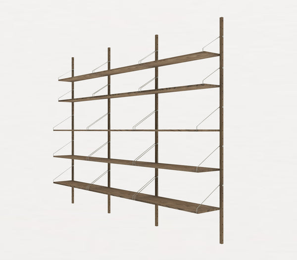 Shelf Library Dark H1852 | Triple Section