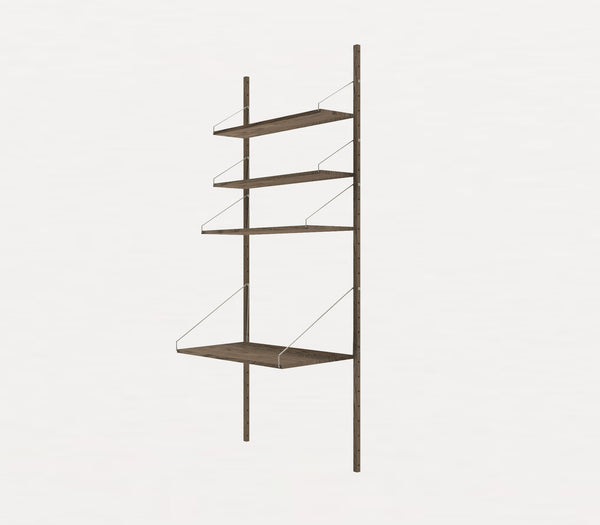 Shelf Library Dark H1852 | Desk Section