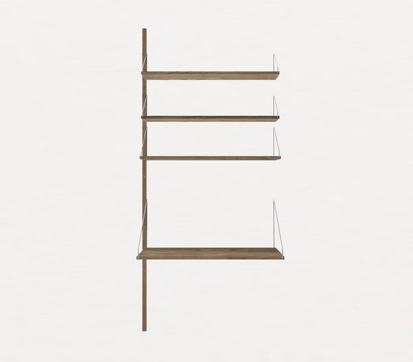 Shelf Library Dark H1852 | Extra Desk Section