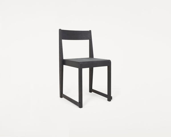 Chair 01 | Ash Black Frame / Ash Black Leather Seat