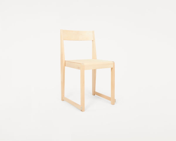Chair 01 | Natural Wood Frame/ Natural Leather Seat