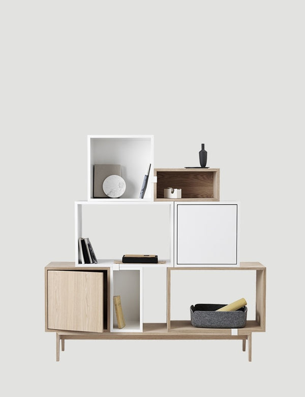 Stacked Storage System - Clips - White